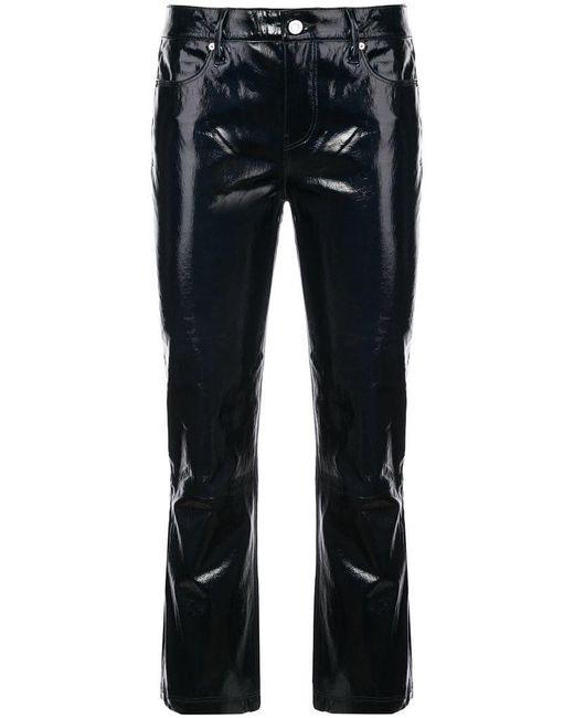 RTA - Black Lambskin Cropped Trousers - Lyst