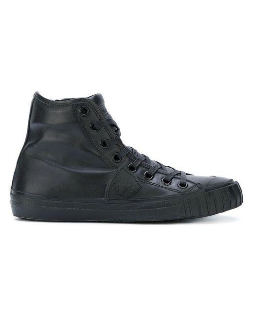 Philippe Model | Black Hi-top Sneakers for Men | Lyst