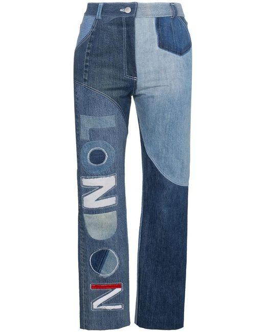 Ronald Van Der Kemp - Blue London High-waisted Patchwork Jeans - Lyst