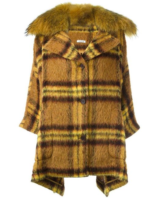 P.A.R.O.S.H. | Multicolor Checked Mid-length Coat | Lyst