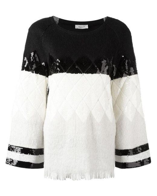 Aviu - Black Embellished Jumper - Lyst