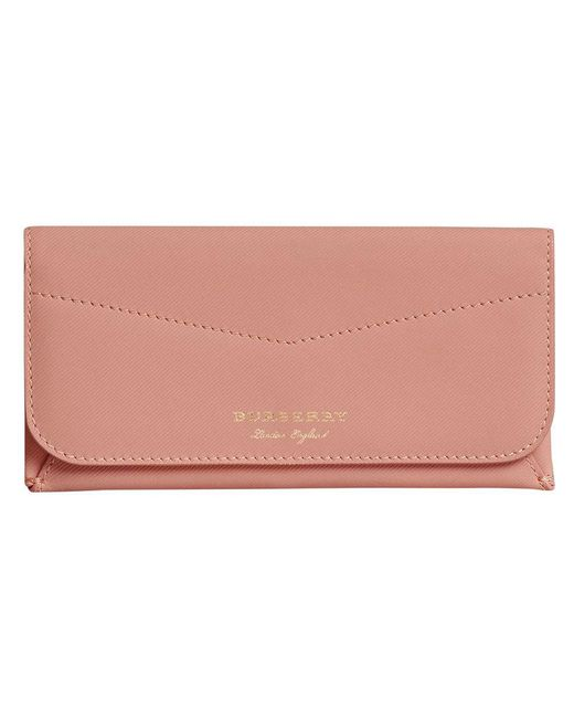 Burberry - Pink Trench Leather Envelope Wallet - Lyst