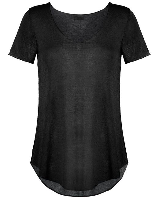 Osklen | Black Sheer Top | Lyst