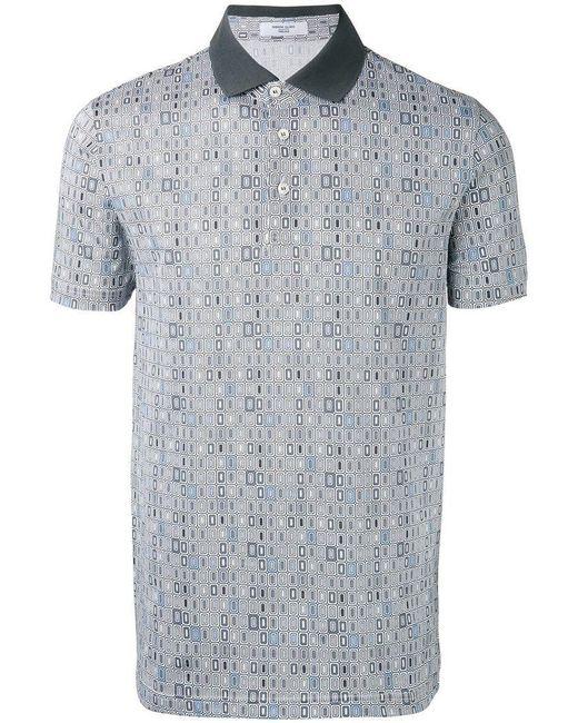 Fashion Clinic Timeless - White Poloshirt mit Kontrastkragen for Men - Lyst