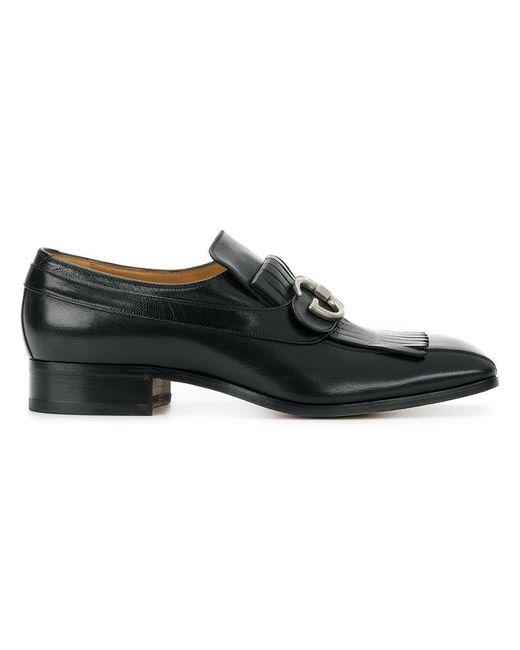 Gucci - Black Novel Fringed Loafers for Men - Lyst