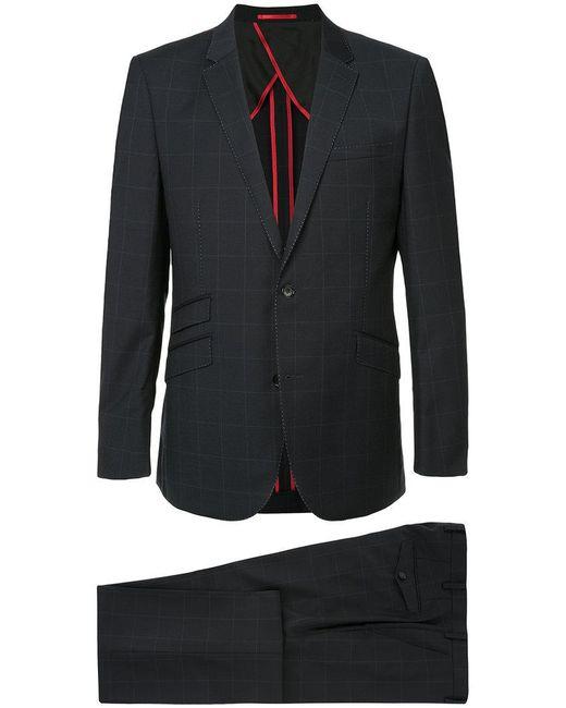 Loveless - Blue Two Piece Grid Print Suit for Men - Lyst