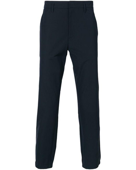 Prada - Blue Straight Leg Trousers for Men - Lyst