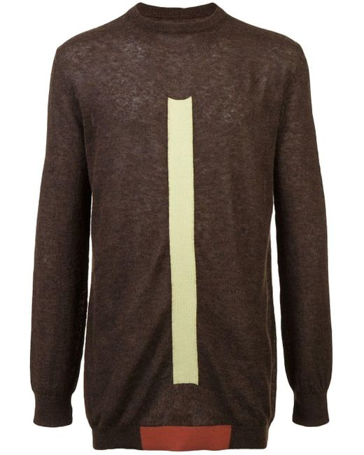 Rick Owens Brown Oversized Round Neck Sweater for men