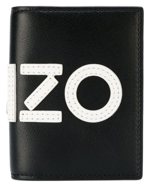 KENZO   Black Graphic Logo Wallet for Men   Lyst