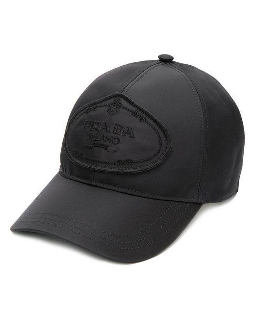 75efeb941be82 Prada Logo Hat in Black for Men - Save 30% - Lyst