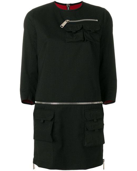 DSquared² | Black Cargo Pockets Dress | Lyst