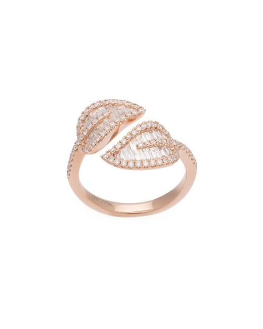 Anita Ko | Metallic Rose Gold Small Leaf Ring | Lyst