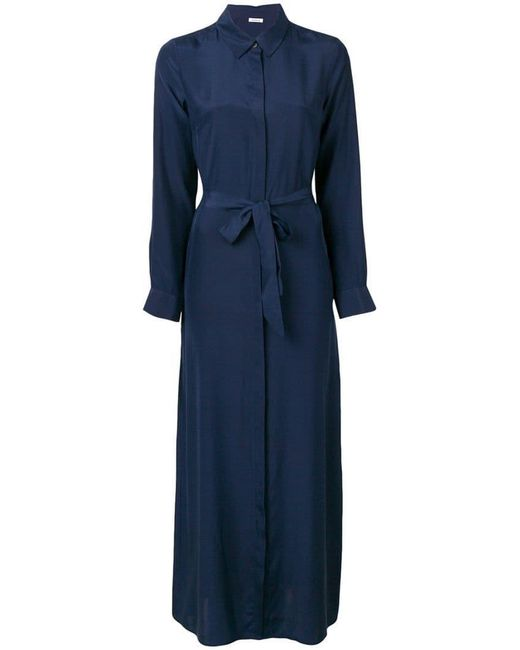P.A.R.O.S.H. - Blue Belted Shirt Dress - Lyst