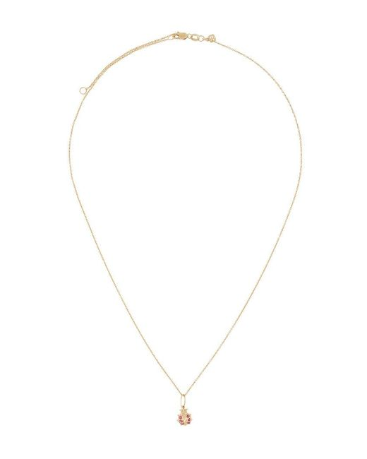 Sydney Evan 14kt black gold diamond love necklace - Metallic DklRJ