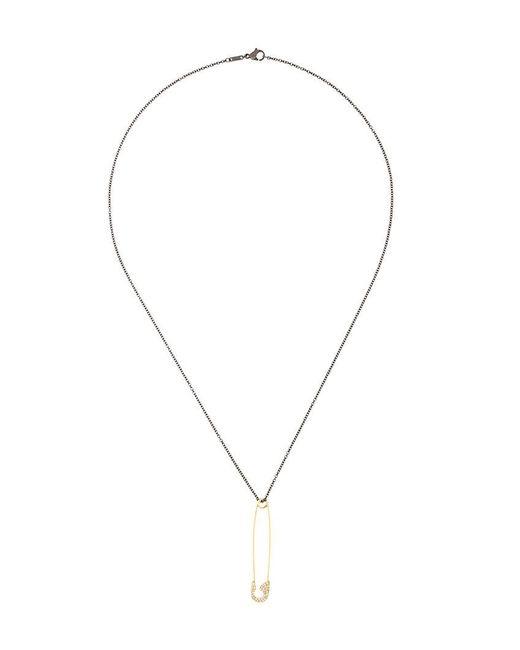 Ileana Makri | Black Safety Pin Pendant Necklace | Lyst