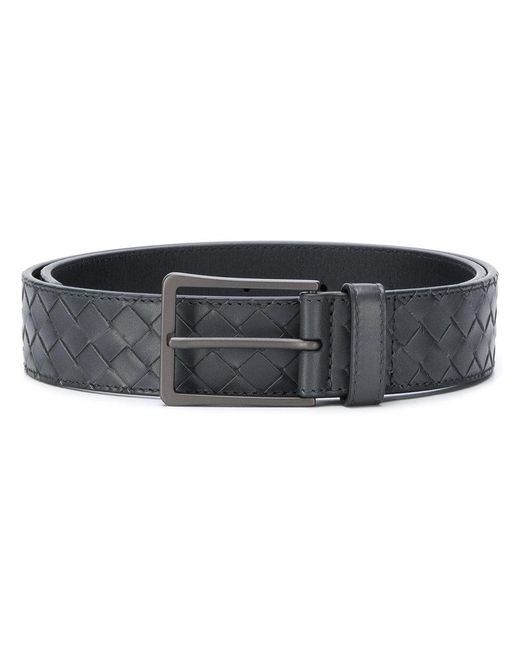 Bottega Veneta - Gray Intrecciato Belt for Men - Lyst
