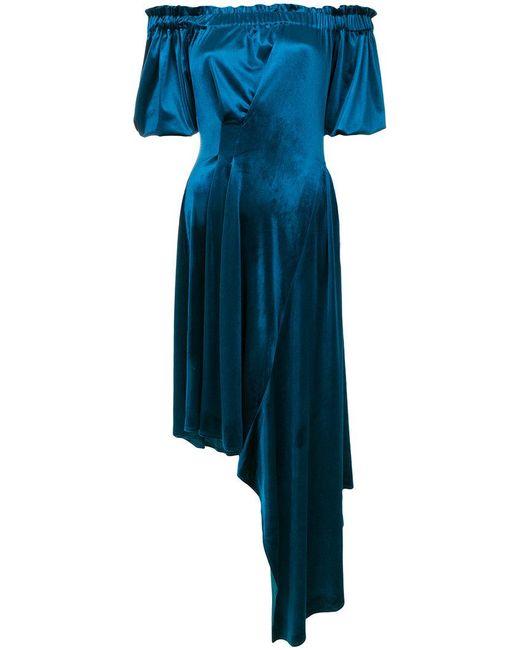 Preen By Thornton Bregazzi | Blue Velvet Courtney Dress | Lyst