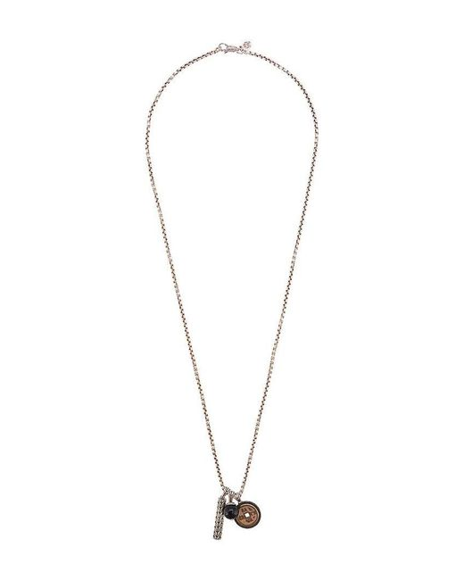John Hardy - Metallic Silver Classic Chain Necklace With Bronze And Onyx Pendant for Men - Lyst
