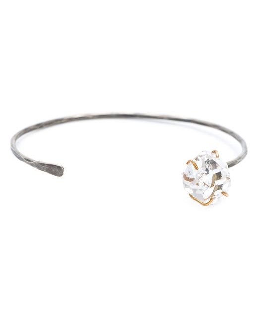 Melissa Joy Manning | Metallic 14 Karat Gold And Oxidized Silver Herkimer Diamond Cuff | Lyst