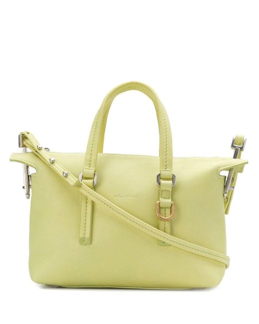 Rick Owens Yellow Top Handle Zipped Tote