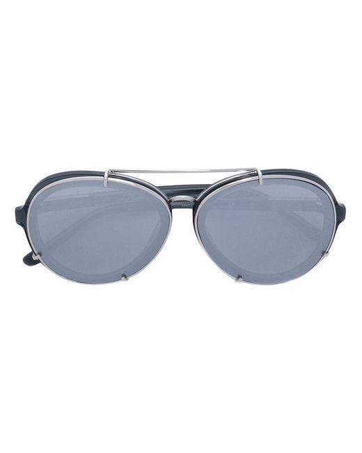 3.1 Phillip Lim   Metallic Double Bridge Sunglasses   Lyst