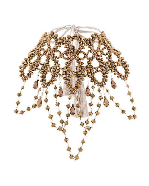 Night Market   Brown Beaded Oversized Choker Necklace   Lyst