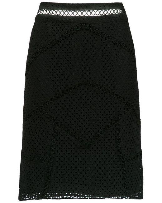 Olympiah - Black Fellari Panelled Skirt - Lyst