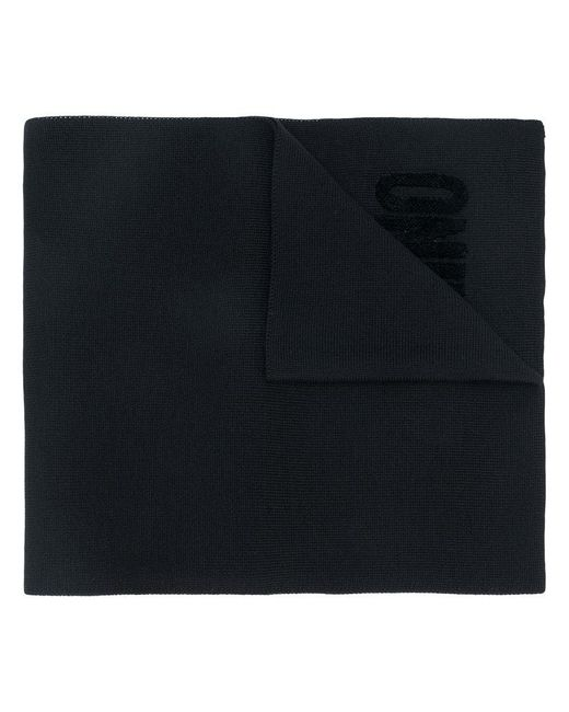 Moschino | Black Embroidered Logo Scarf for Men | Lyst