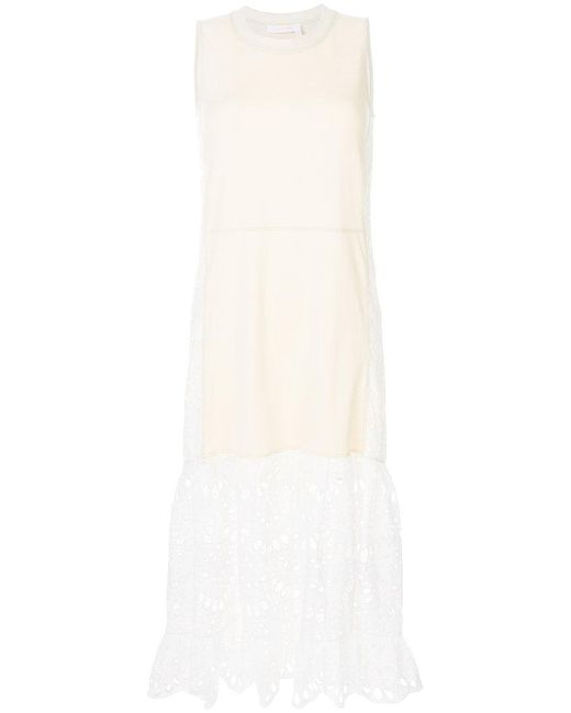 See By Chloé - Multicolor Half Lace Embroidered Dress - Lyst