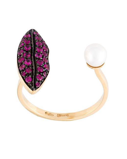 Delfina Delettrez | Pink 'lips Piercing' Ruby Ring | Lyst