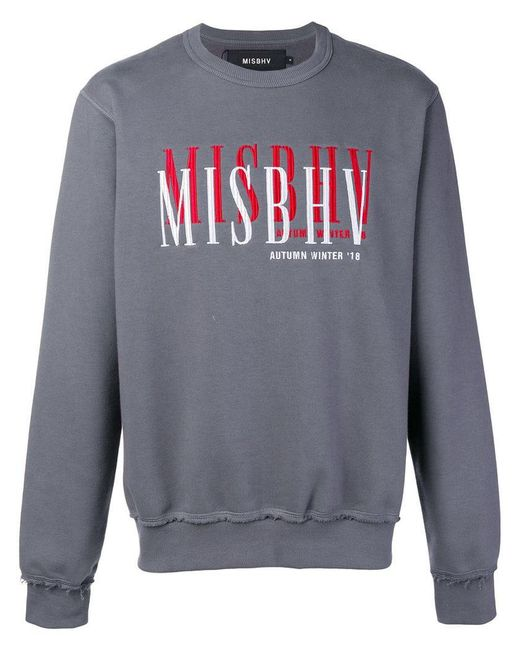 M I S B H V - Gray Sweatshirt mit aufgesticktem Logo for Men - Lyst