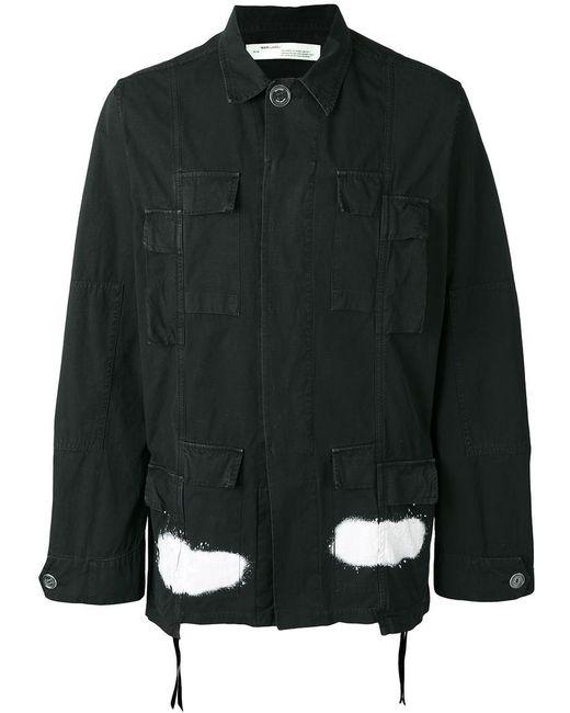 Off-White c/o Virgil Abloh | Black Diagonal Stripes Cargo Jacket for Men | Lyst