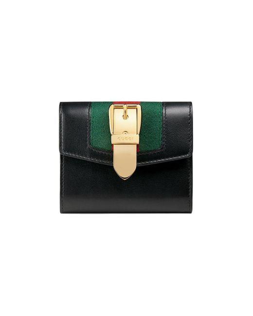 Gucci Black Sylvie Leather Wallet