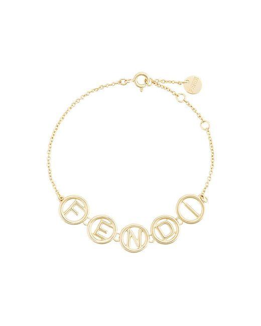 Fendi | Metallic Logo Chain Bracelet | Lyst