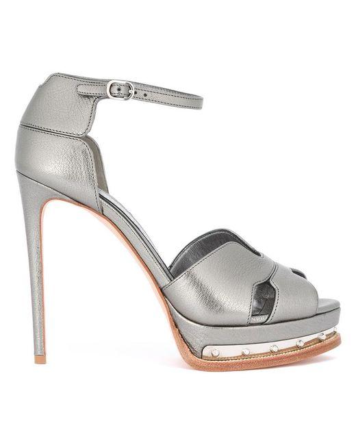 Alexander McQueen | Gray Platform Sandals | Lyst