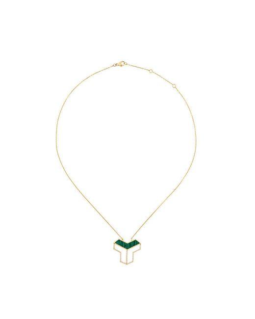 Eshvi - Metallic Geometric Pendant Necklace - Lyst