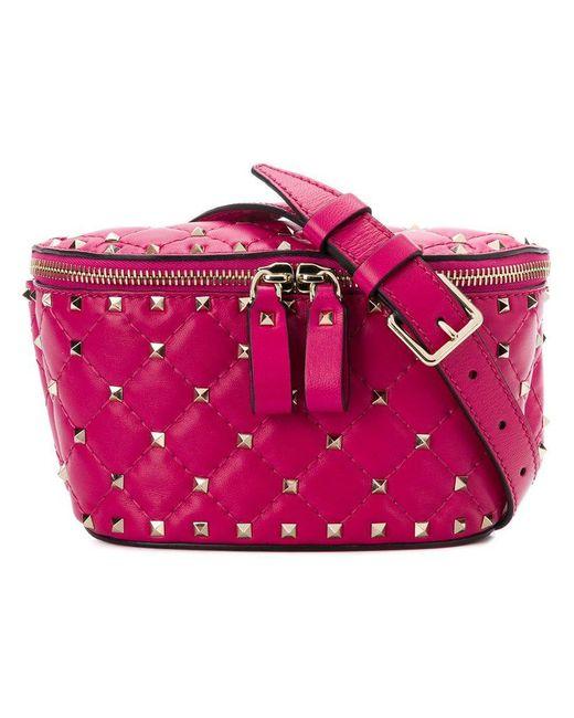 Valentino - Pink Garavani Rockstud Spike Belt Bag - Lyst
