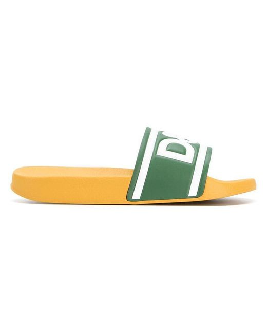 Dolce & Gabbana - Yellow D&g 1984 Slide Sandals for Men - Lyst