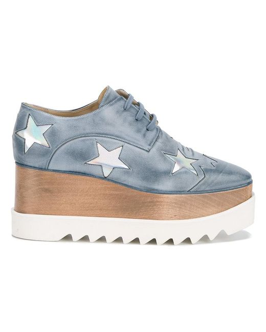Stella McCartney | Blue Elyse Star Platform Shoe | Lyst