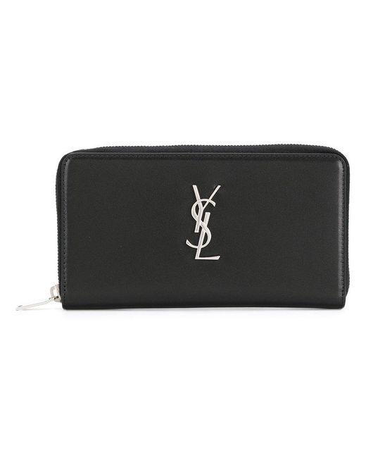 769ffc786ad Saint Laurent Monogram Card Holder in Black for Men - Save 38% - Lyst