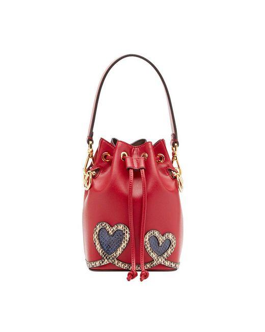 91b064636662 Fendi - Red Mon Tresor Mini Bag - Lyst ...