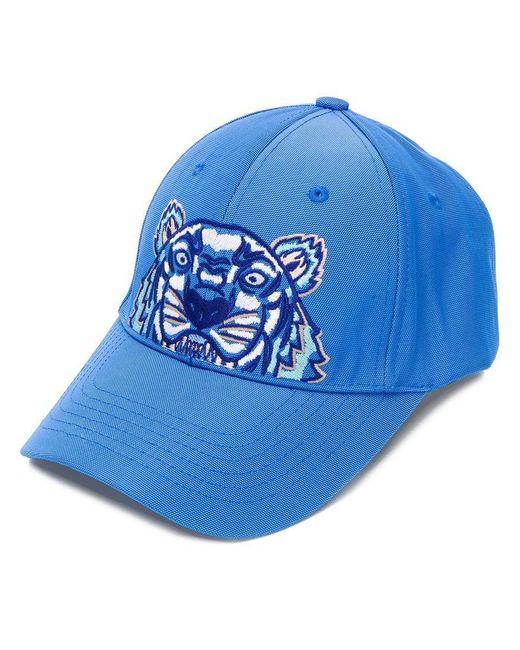 KENZO - Blue Tiger Canvas Cap Cobalt for Men - Lyst