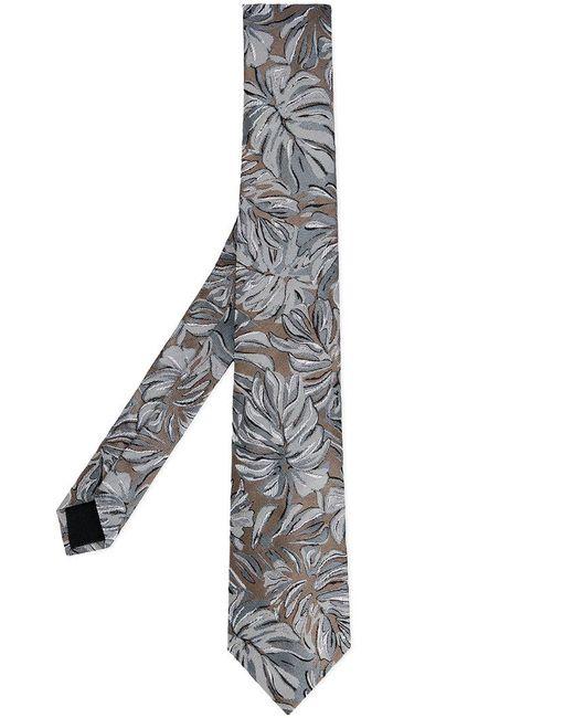 Cerruti 1881 - Green Floral Print Tie for Men - Lyst
