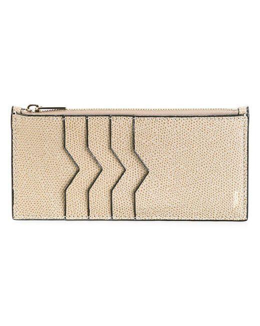 Valextra - Brown Zip Detail Card Case - Lyst
