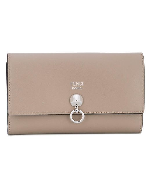 Fendi - Gray Slim Continental Wallet - Lyst
