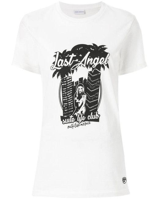 Chiara Ferragni - White Chiara's Last Angel T-shirt - Lyst