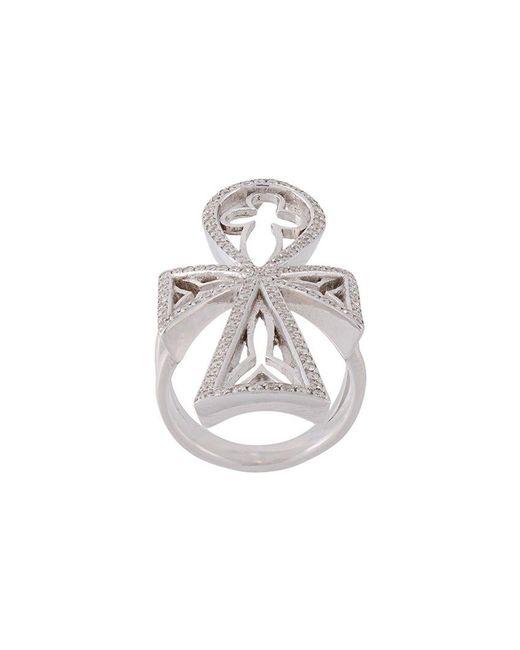 Loree Rodkin - Metallic Diamond Maltese Cross Ring - Lyst