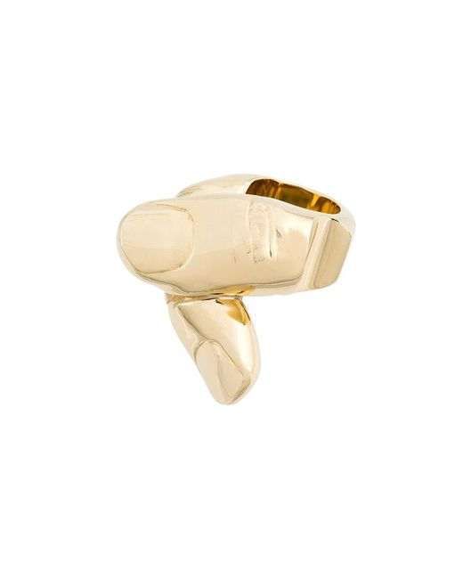 Y. Project | Metallic Finger Shape Chunky Ring | Lyst