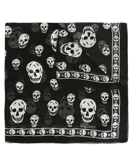 Alexander McQueen   Black 'skull' Scarf for Men   Lyst