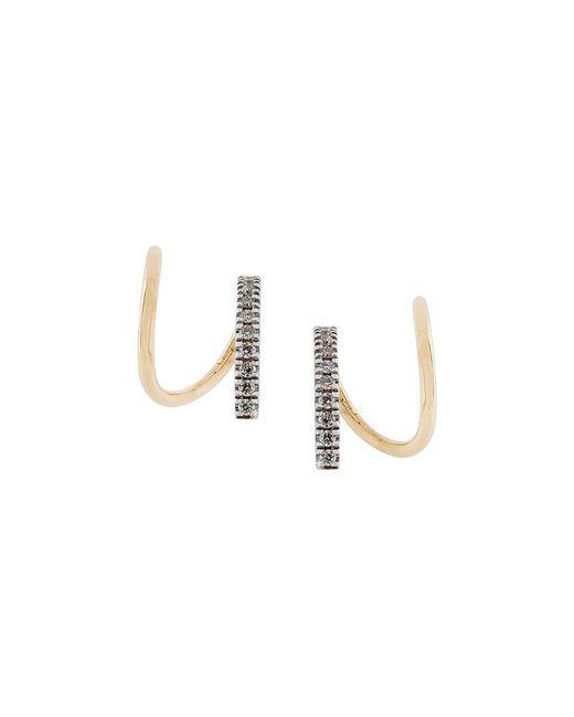 Maria Black - Metallic Bela Blanc Twirl Diamond Earrings (pair) - Lyst